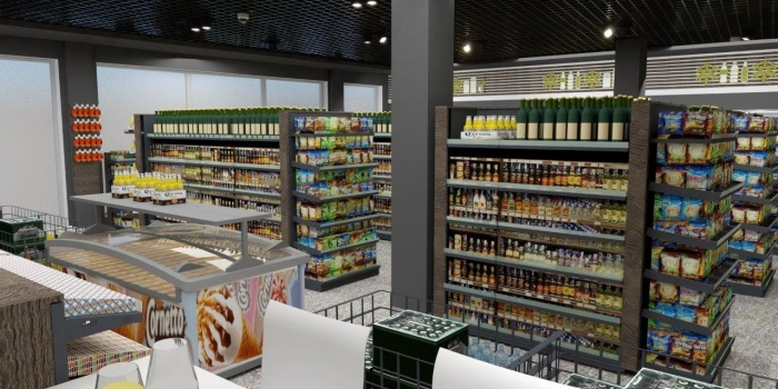 Design of restaurants, shops, gas stations